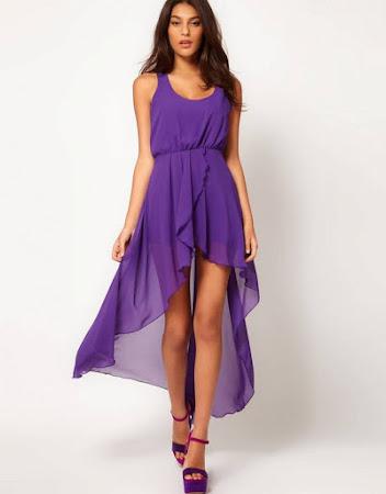Платья с удлинением сзади