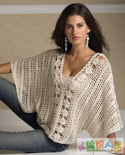 Известная модель блузы-кимоно