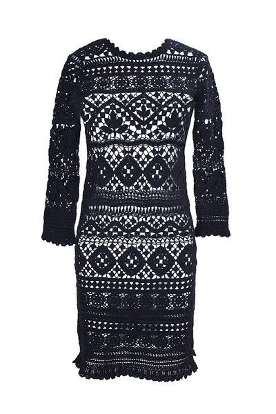 Схема вязания платье миранда керр