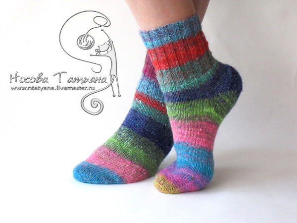 Носки цветные связать
