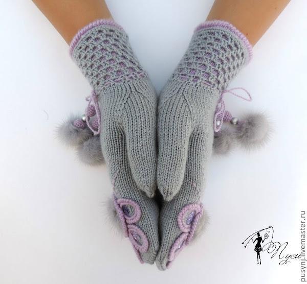 Связать палец в варежках спицами