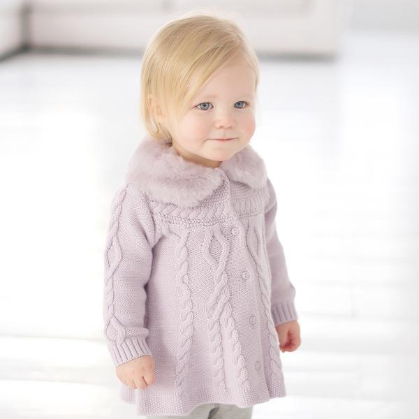 Онлайн вязание - пальто для