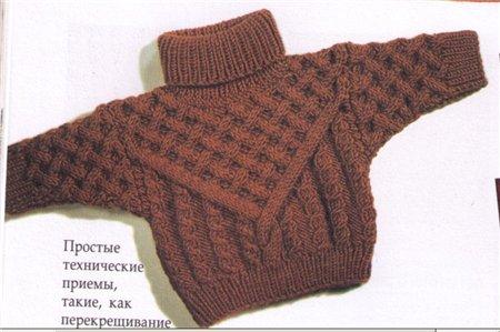 Вязание на осинке свитер