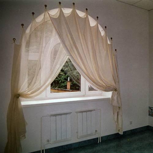 Арочное окно шторы своими руками