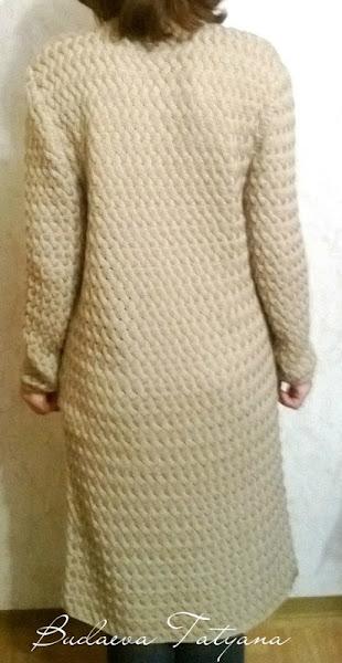 пальто плетенка