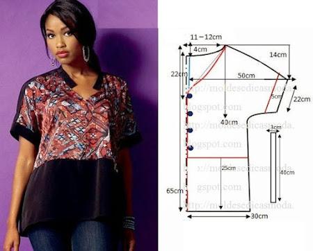 Простейшие блузы выкройки