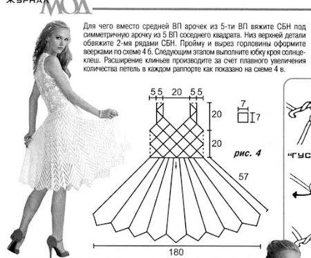 Схема летнего платья связанного крючком