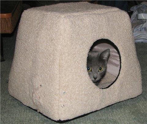 Домики для кошек сшить своими руками фото