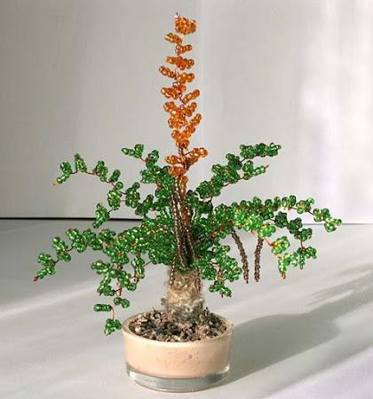 Красивый деревья из бисера.  Изготовление на заказ.