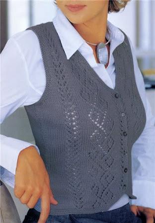 Вязанный жилет для женщин
