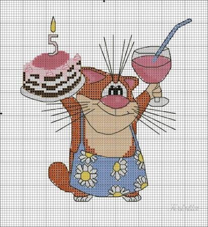 Открытки с вышивкой к дню рождения схемы