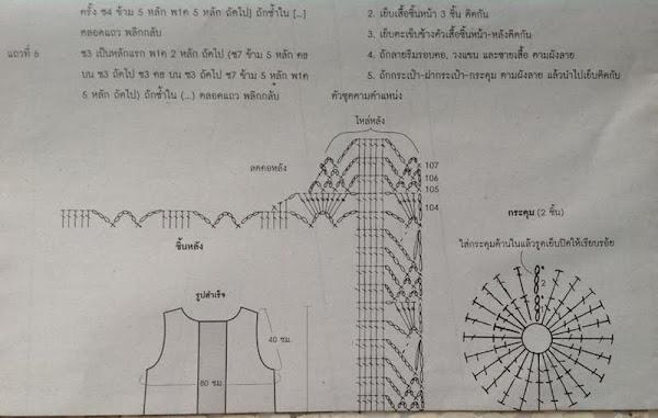 Тайское вязание схемы