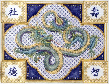 Восточные мотивы, иероглифы, драконы