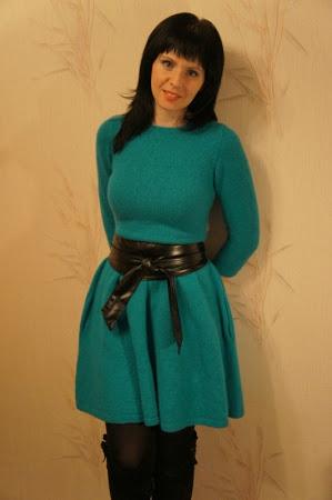 Синие дали & co.Платье спицами