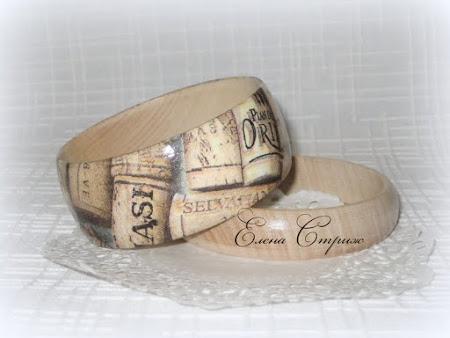 Елена Стриж - Авторские украшения из дерева, декупаж