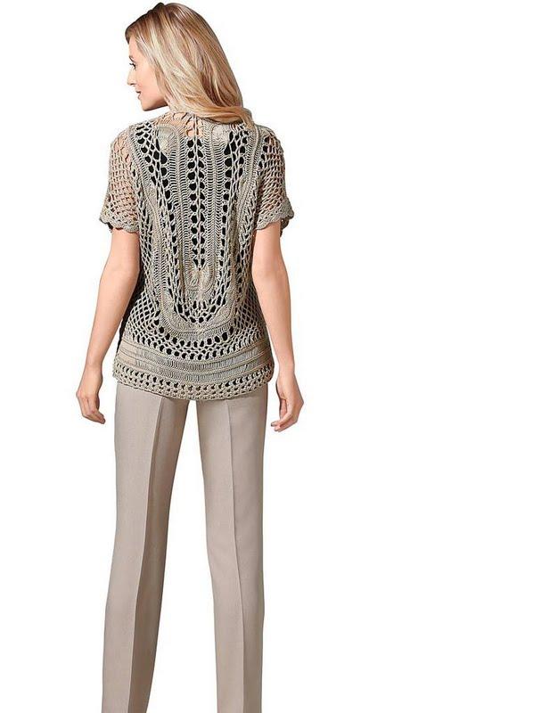 Французский пуловер для Труа Сюисс. Крючок, вилка или спицы