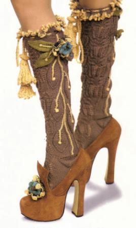 Колготки и обувь с открытым мысом