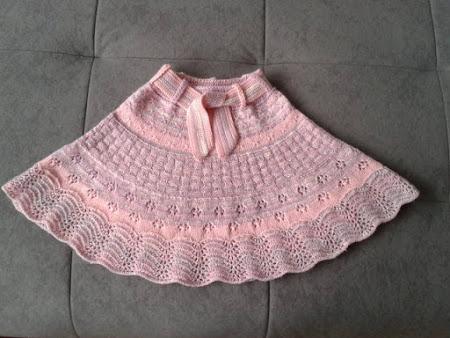 Летняя юбка спицами - морские стёклышки