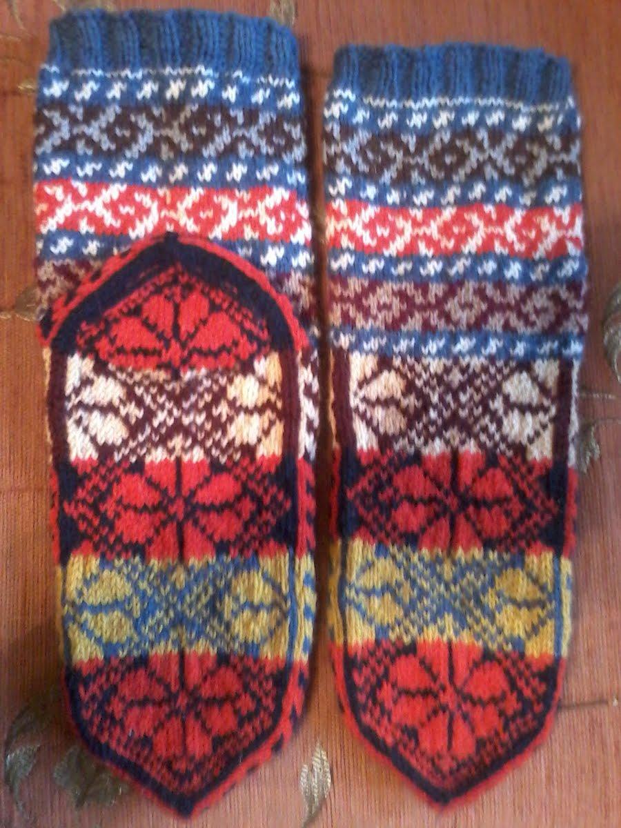 схема вязанных турецких носков с фото