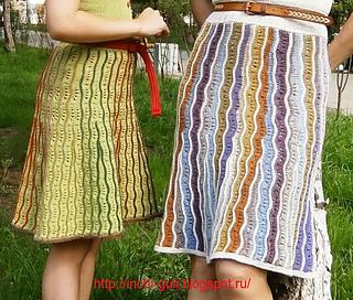 Такие разные дюны (юбки-платья-сарафаны спицами)