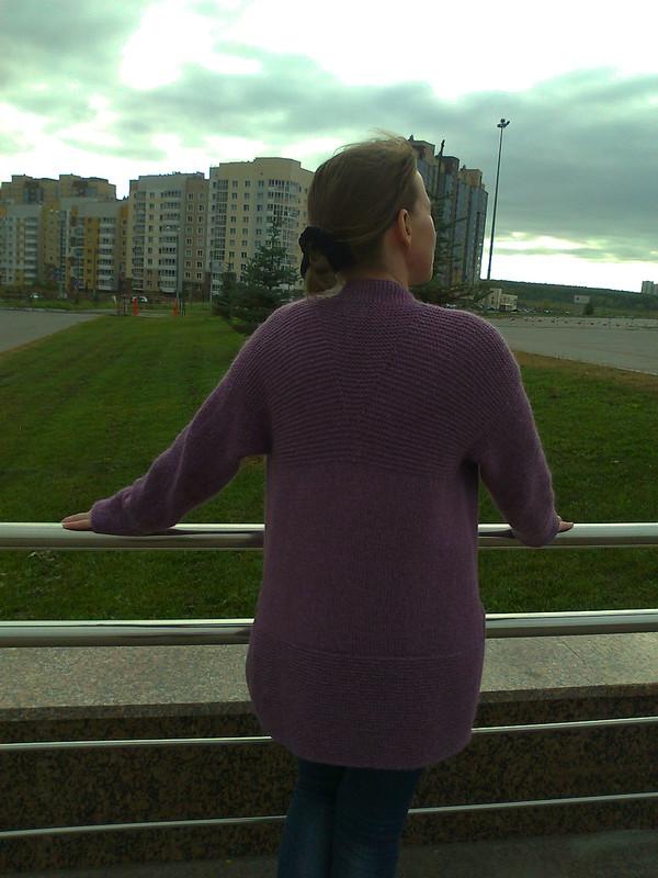 Прогулка по парку-жакет спицами от Ютты