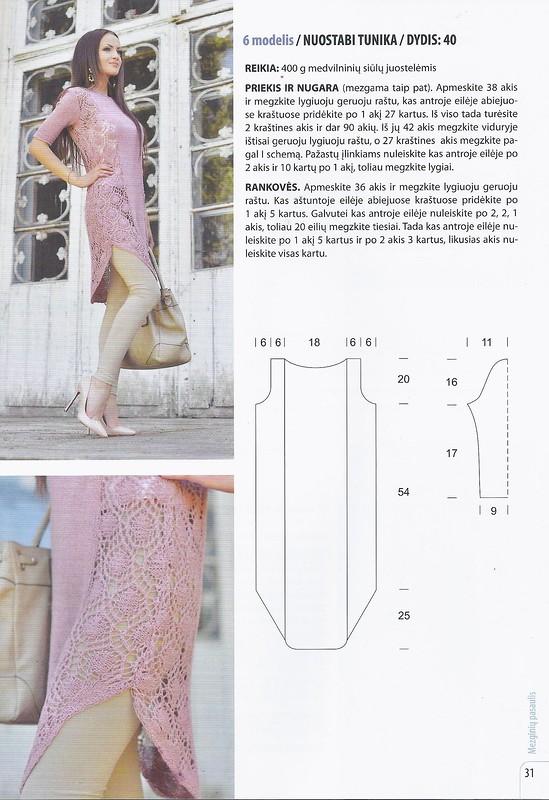 Платья и туники - спицами
