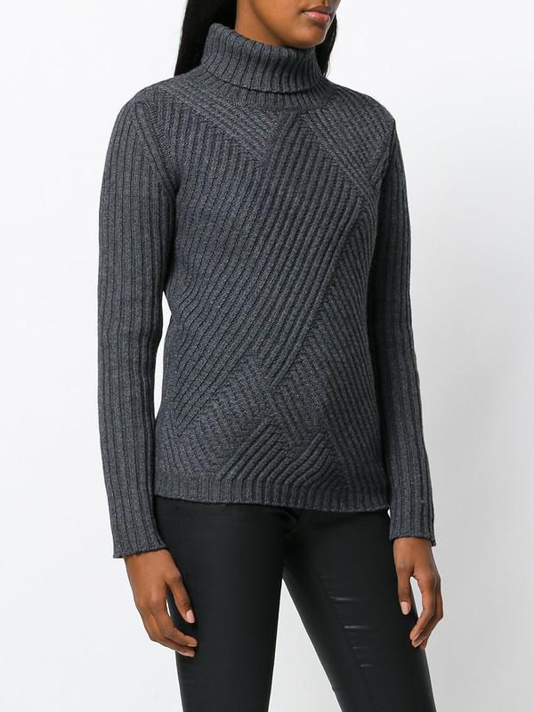 Уютная диагональ - свитер-оверсайз спицами