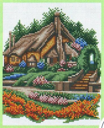 Строим-вышиваем дом