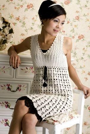 Березка - платье-сарафан крючком