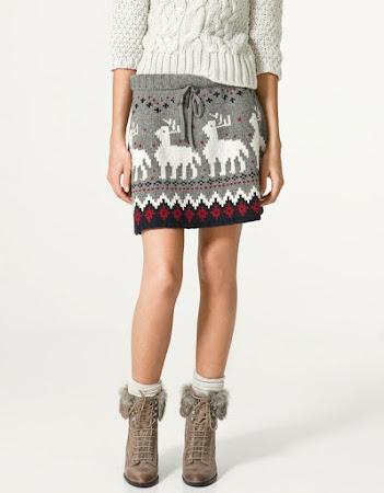 Уютный норвежский свитерок с оленями и снежинками от D&G