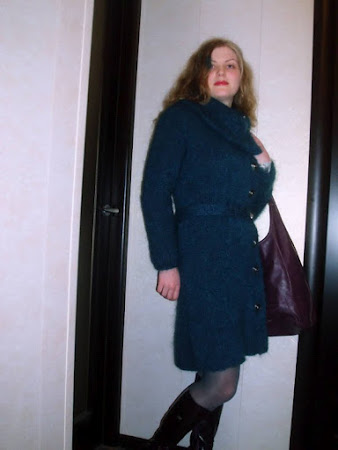 Модель вязаного пальто - 2