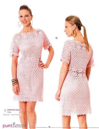Розовая жемчужина - летнее платье крючком