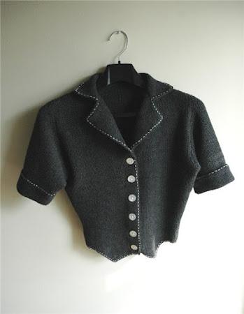 Вязаный пиджак