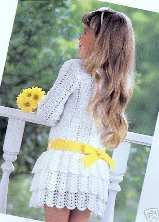 Девичьи грезы - платье крючком