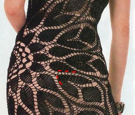 Вязаное платье салфетка