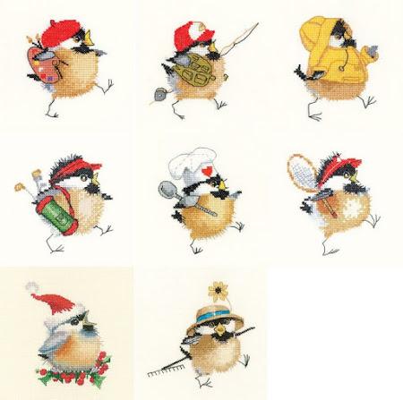 Птицы (схемы вышивки)