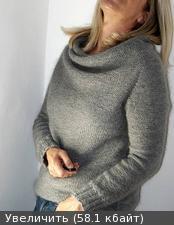 Redy - стильный свитер воротник - качели - спицами