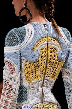 За гранью шаблонов - платье от Balmain крючком