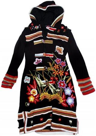 ...В ожидании Весны от Кензо. Вязаное пальто: спицы+вышивка
