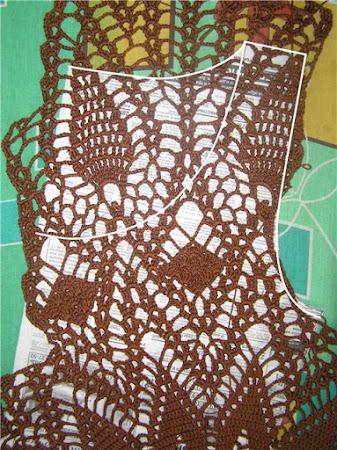 Платье из салфетки крючком: берем любую салфетку -и....