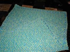 Детское одеялко спицами и крючком