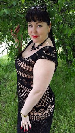 Шик по-итальянски - черное платье от Mariella Burani
