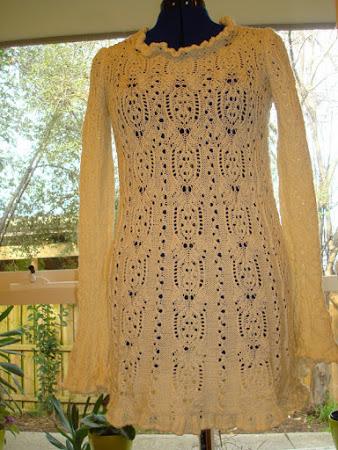 Ажурный лебедь из страны Басё: парадный пуловер