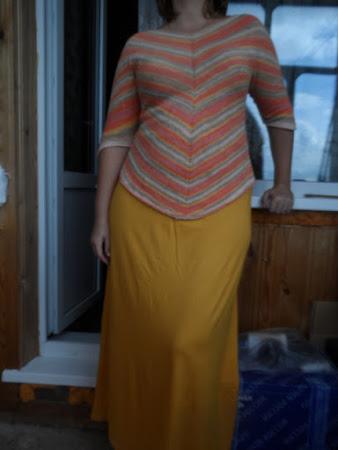 Магический квадрат - пуловер спицами от Amy Polcyn