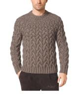 Michael Kors - мужской свитер из кос спицами