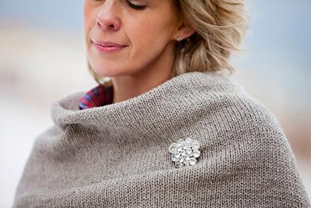 Кокон бабочки спицами (свитер, платье)