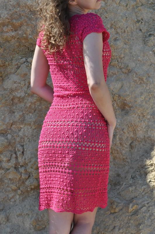 Платье филейный жемчуг
