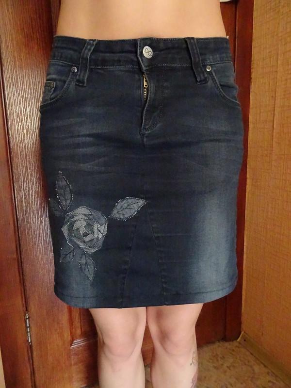 Как сшить прямую юбку из джинс