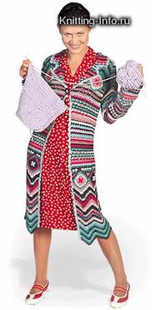 Модель вязаного пальто